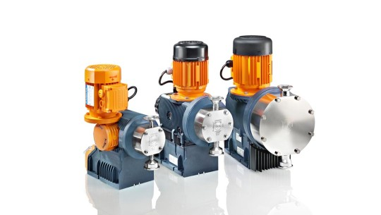 Physiologically harmless metering pumps